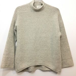 Zara Knit NWOT Oatmeal Mock Neck Sweater